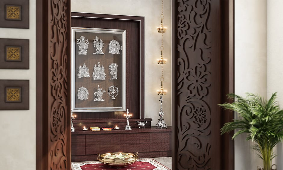 Custom traditional pooja room designs for your home