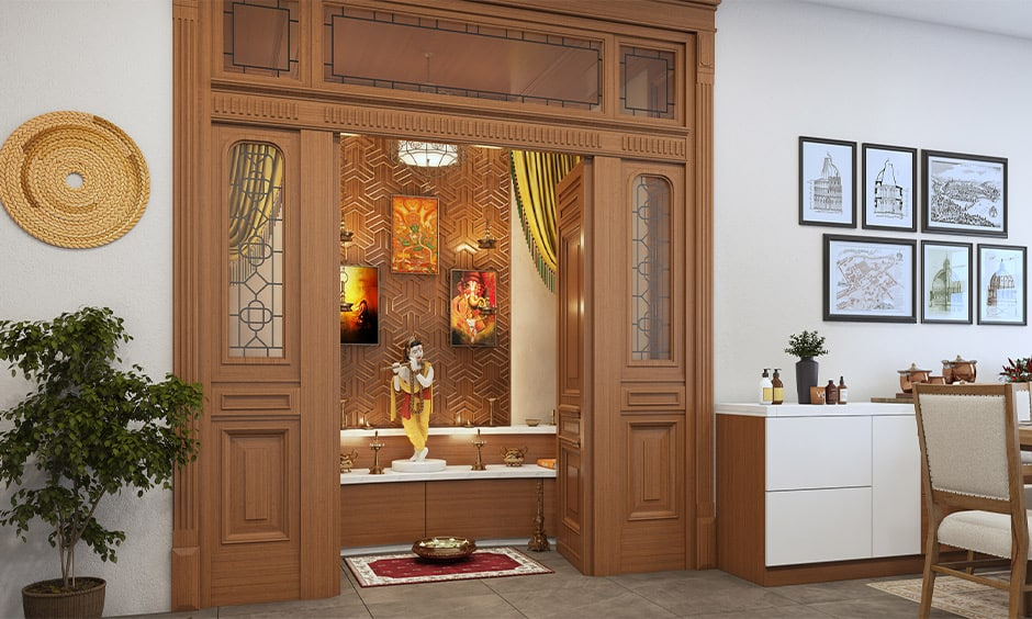 South indian traditional pooja room designs