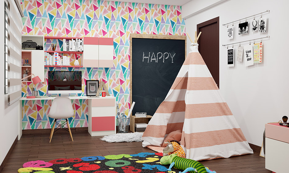 DIY girl room decor idea with pastel and a cosy tent made from old fabrics is the best DIY girl room.