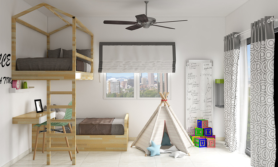 Bunk beds for boys for your home which allows you to add cool features you may not find in the ready-made bunk beds