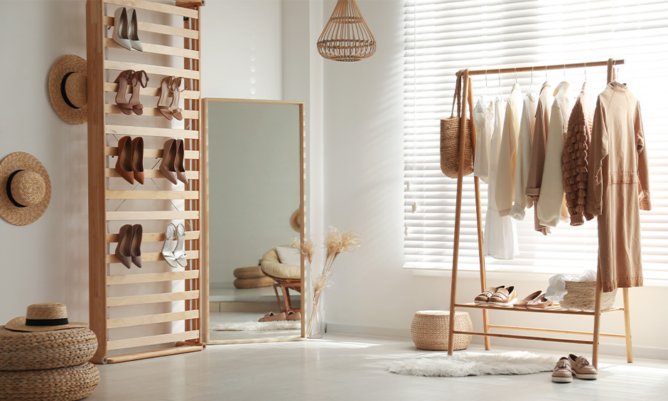 Space-saving shoe rack DIY idea, Ladder shelf shoe rack is the perfect way to store and display collection.