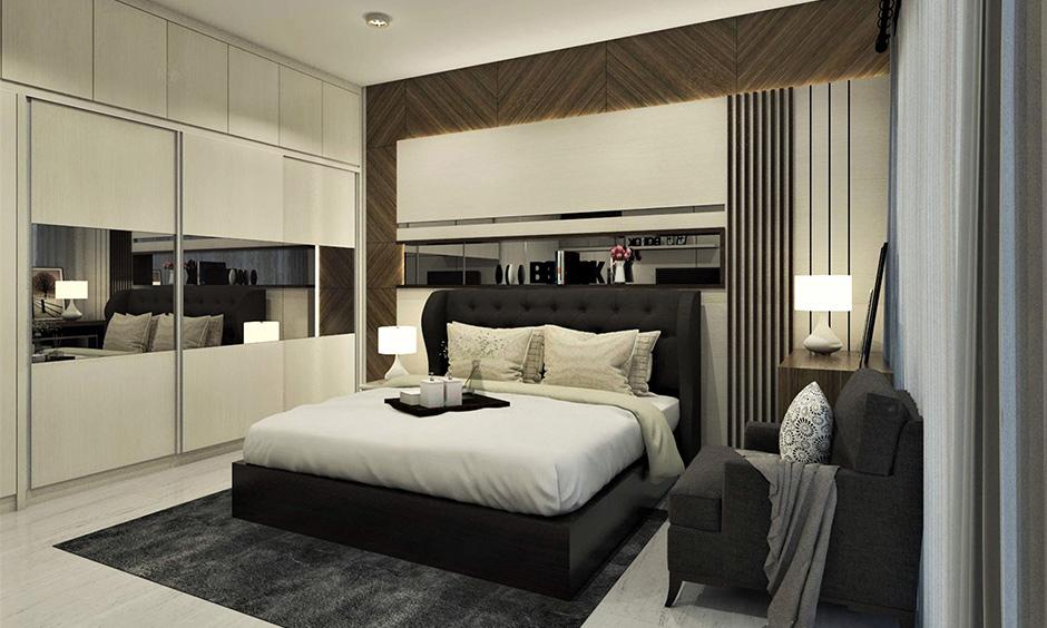 Stylish wall wardrobe designs for bedroom
