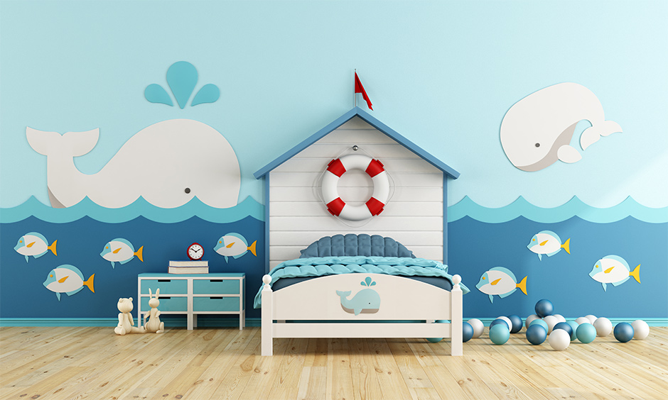 Beautiful and quirky wallpaper design for kids room