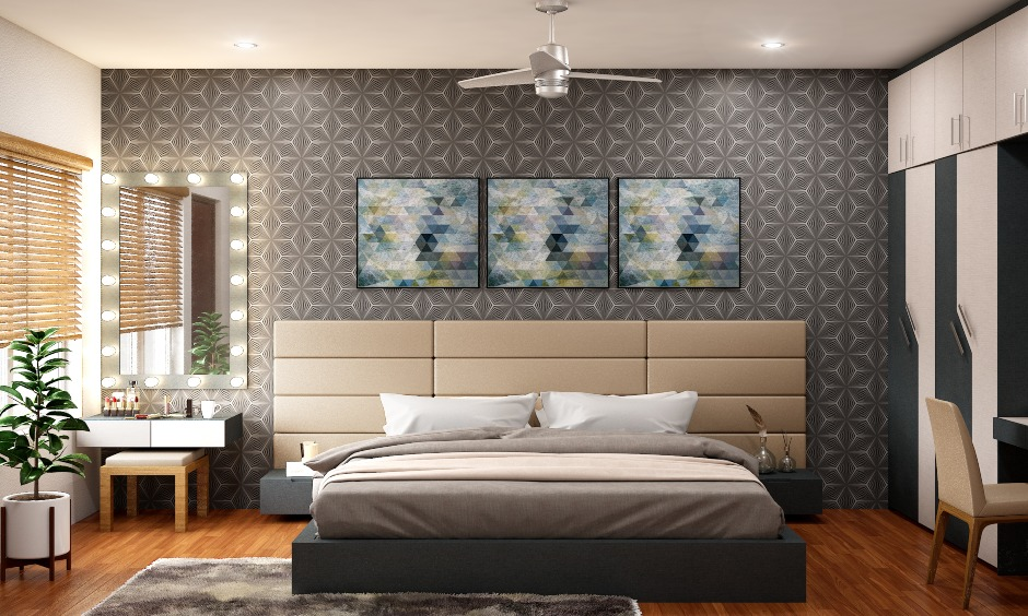 Luxurious wooden flooring designs for bedroom