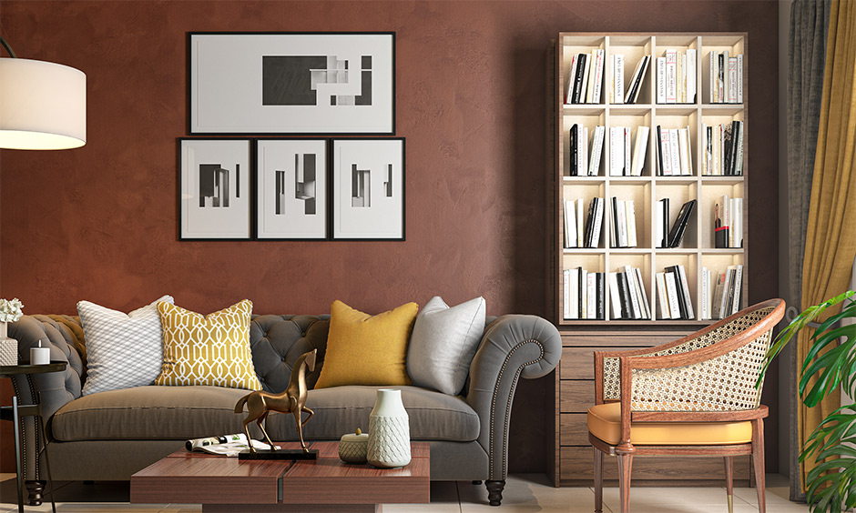 Interior mistakes avoided in the living room by using fewer photo frames