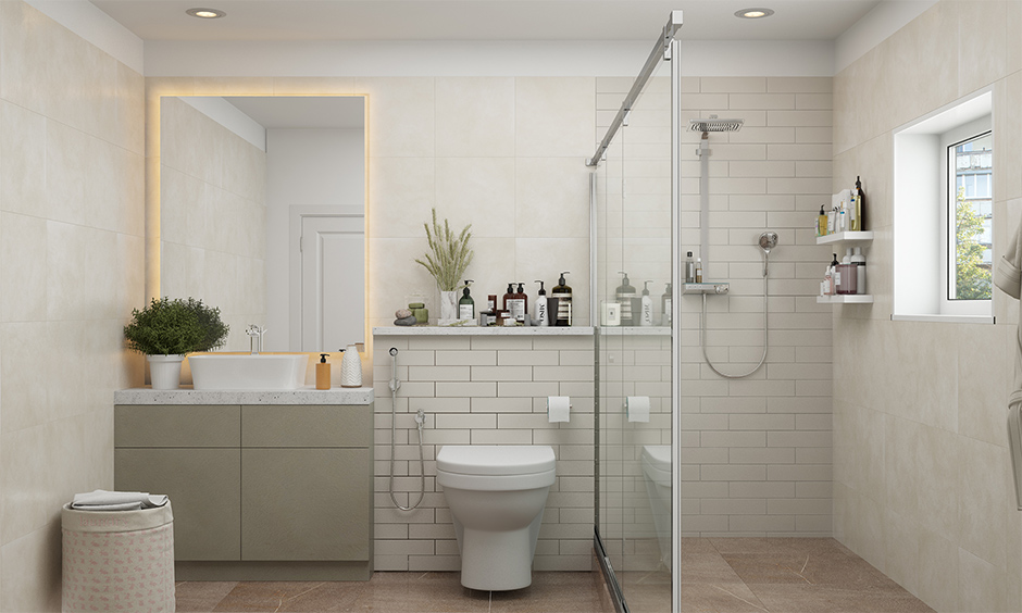 A bathroom mistake in interior design avoided with proper ventilation and lighting looks airy and brighter.