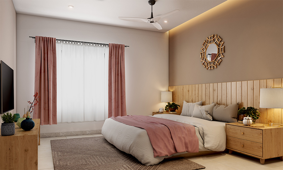 Bedroom mistakes in interior design avoid using too long curtains for easier maintenance and sleekness.