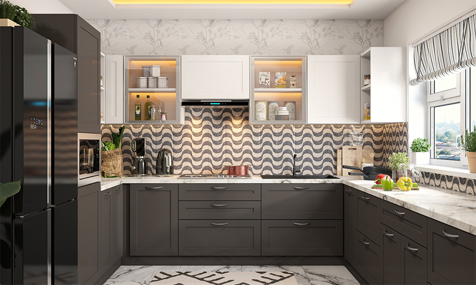 Kitchen interior design mistakes lead to less performance, obstructing between the sink, fridge and stove.