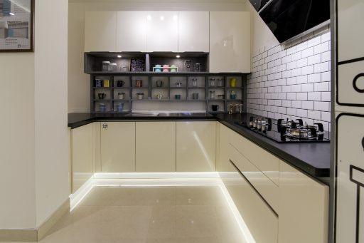 Modular kitchen design for design cafe experience center hsr bangalore