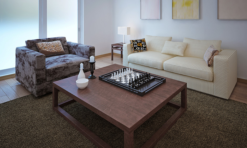 Small gaming room design, cosy nook place with a proper table and seating for fun board game night best set up.
