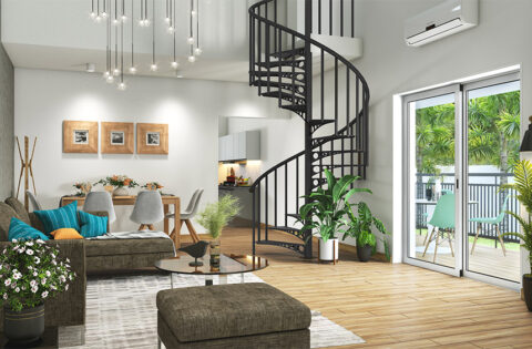 Eye-catchy Spiral staircase designs for your home