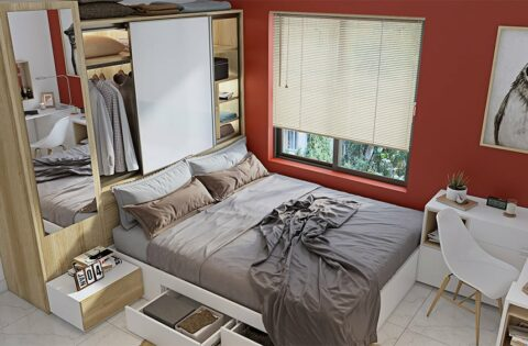 Space saving interior design ideas for small apartment families