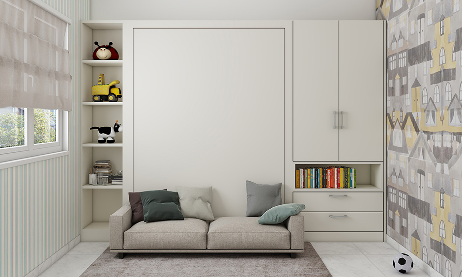 Sofa cum murphy bed multipurpose furniture for small space intelligent way to save space.