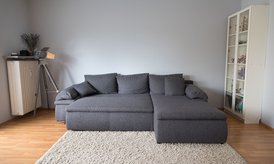 Space saving sofa bed to lounger sleep and repeat with the tv