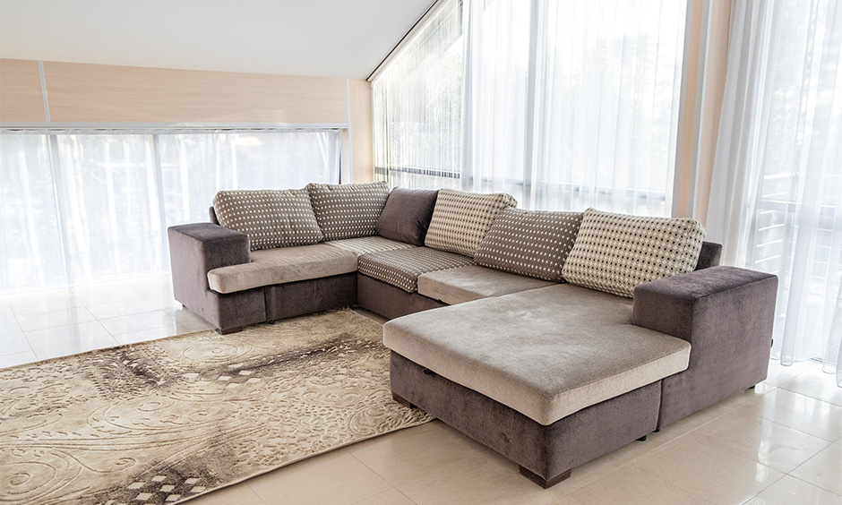 space saving sofa bed to provide extra seating in the living room