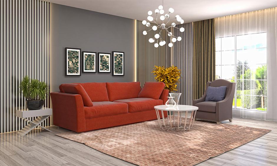 Chandelier light for living room, funky chandelier design in the dark colour living room lends attractive.