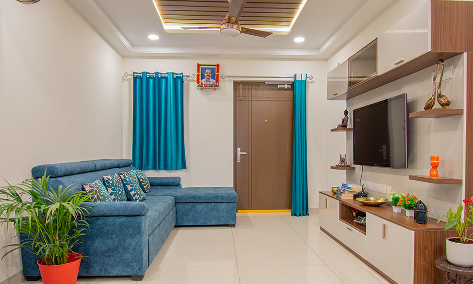 Living room designed by one of the best interior designers in hyderabad