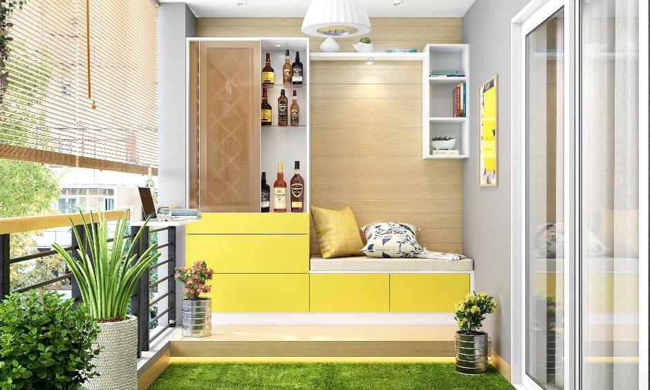 Balcony design with a smart bar unit