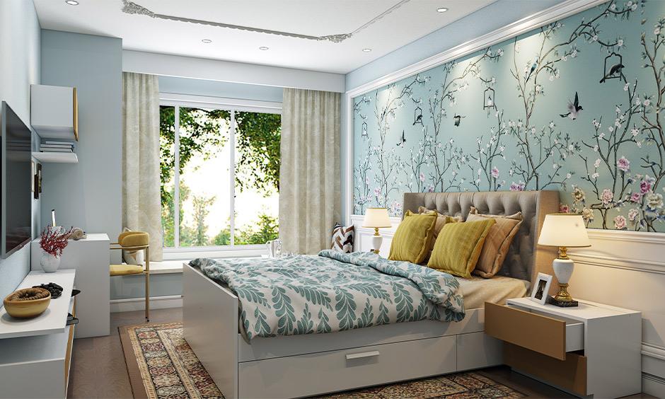 study table design in bedroom