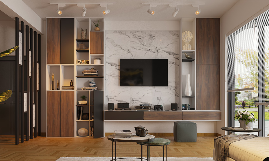 Latest living room wooden floor tiles for your home