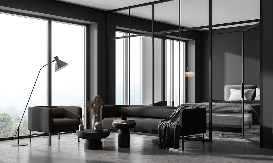 Glass door designs for bedrooms give an elegant look.