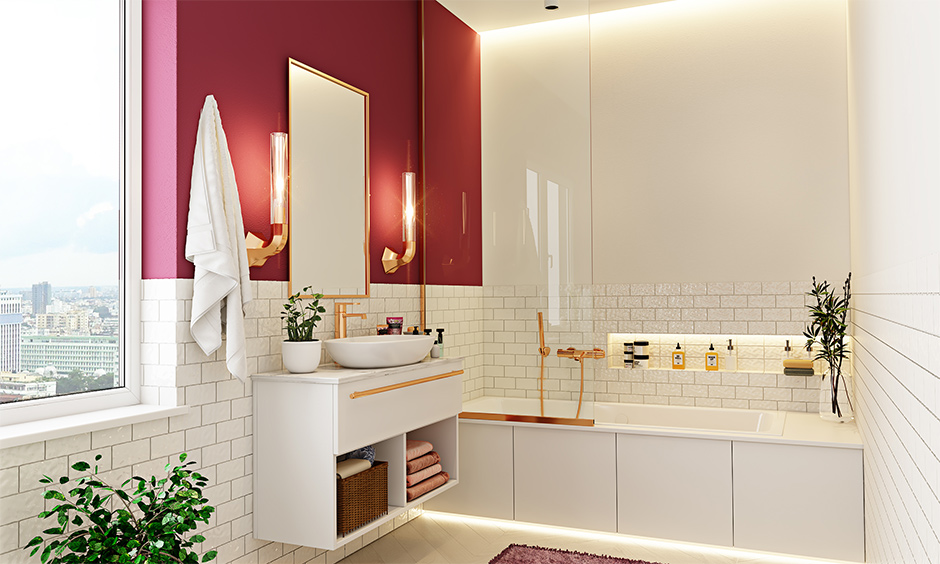 Stunning red bathroom design ideas for your home