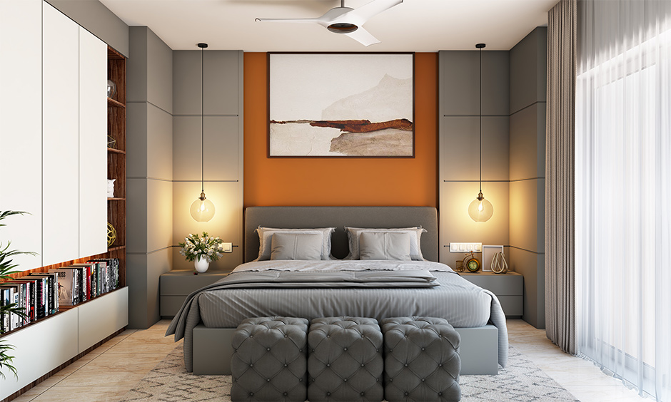 Grey colour combination for bedroom walls