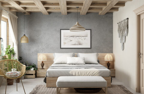 Japanese interior design ideas for your home A Japanese-style bedroom with a lot of woodwork and handwoven decorations