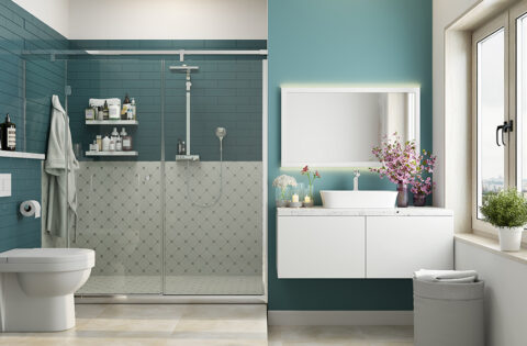 Fantastic bathroom glass door designs for your home